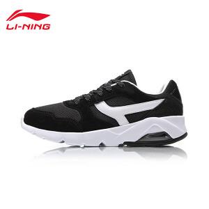李宁休闲鞋女鞋半掌气垫时尚经典低帮运动鞋AGLM116