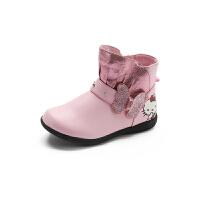 【99元任选2双】迪士尼童鞋女童小童春秋款短靴凯蒂猫