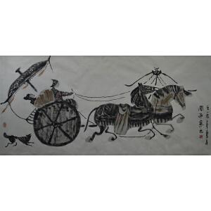 中国美协原理事 王阔海 《出行》
