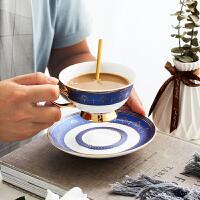 家用简约下午茶花茶杯勺欧式金边咖啡杯英式陶瓷咖啡杯碟套装