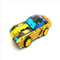 鸿威鸣玩具3D动力拼图 儿童立体拼图卡 变形金刚塑料拼插积木玩具