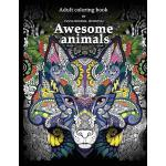 预订 Adult Coloring Book: Awesome animals [ISBN:9781541032040