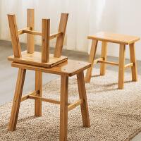 老睢坊 时尚创意小凳子家用换鞋圆脚凳实木椅矮凳茶几沙发凳方板凳