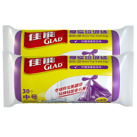 [当当自营]Glad佳能 2件装厚实垃圾袋波浪口型中号紫色