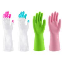 洗碗家务手套刷碗洗衣服塑胶皮清洁家务皮手套防水橡胶乳胶洗衣手套洗碗手套