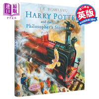 【中商原版】 英文原版 哈利波特与魔法石 Harry Potter and the Sorcerer's Stone: The Illustrated Edition彩绘插图精装收藏版