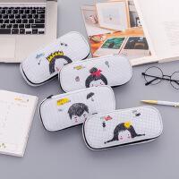 新款 韩国文具创意学生笔袋 卡通大容量笔盒铅笔袋