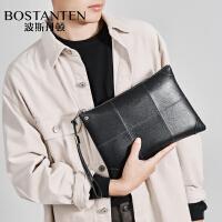波斯丹顿男士手包休闲男包手拿包商务手提包信封包皮包包小夹包潮