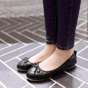 O'SHELL欧希尔新品057-1608韩版平底鞋女士豆豆鞋
