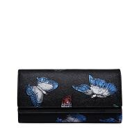 朱尔ZOOLER 时尚蝴蝶多功能牛皮钱包女士手工彩绘长款时尚钱夹百搭印花手拿包
