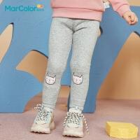 巴拉巴拉旗下马卡乐童装冬新款女童甜美柔软舒适萌趣松紧打底裤