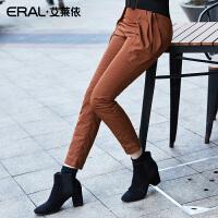 ERAL/艾莱依羽绒裤女显瘦小脚裤修身保暖裤冬加厚羽绒AFB1016-QC