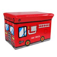 快乐鱼 卡通巴士多用收纳凳子 玩具收纳箱小号 JJN02-21
