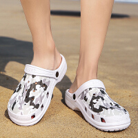 夏季洞洞鞋男士韩版个性时尚拖鞋外穿凉拖休闲沙滩鞋包头凉鞋