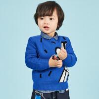 【2件2.5折:89元】马拉丁童装男小童套头圆领毛衣