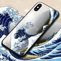 横版乘风破浪苹果xs max手机壳xr玻璃iphone6s全包8个性创意8plus简约ins风7文艺复古男x情侣7p潮