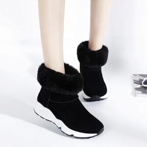 O'SHELL欧希尔新品115-D-7308休闲磨砂绒面女士雪地靴