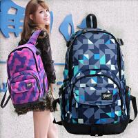 韩版初中学生书包旅行包运动包学院风时尚潮流双肩包女士帆布背包