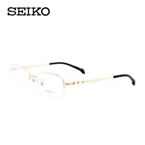 精工 纯钛 半框眼镜架 男士近视眼睛 眼镜框 HP01058