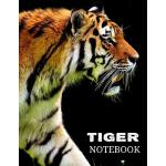 预订 Tiger Notebook: Tiger Writing Journal 120 Blank Lined Pa