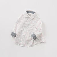 [2件3折价:74.1]戴维贝拉童装春季新款男童衬衫 宝宝格子衬衣DB10185
