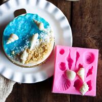 巧克力硅胶海洋模具海星蛋糕装饰海滴胶DIY翻糖海洋慕斯海螺贝壳