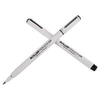 宝克文具笔宝珠笔bk105签字笔白色碳素笔0.5简约办公水性笔12支装