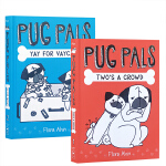 英文原版 Pug Pals系列绘本【2册】合售 Two's A Crowd/Yay for Vaycay! 7-10岁