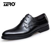 零度尚品新品男鞋潮流正装皮鞋男士布洛克雕花潮鞋子F5231