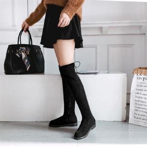 O'SHELL欧希尔新品089-929-3欧美磨砂绒面平底鞋女士过膝长靴