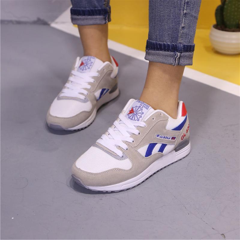 ELEISE美国艾蕾莎新品059-608韩版网布女士休闲鞋