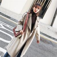 毛呢外套女韩版中长款秋冬季新款宽松气质女神范双面呢子羊绒大衣