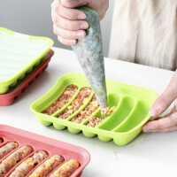 硅胶香肠模具肉肠火腿肠自制作工具宝宝婴儿辅食家用烘焙模具可蒸