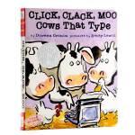 【中商原版】廖彩杏 张湘君推荐 英文原版绘本 韵文与歌谣 建立快乐记忆 Click, Clack, Moo: Cows