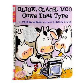 【中商原版】叽喀,叽喀,哞 英文原版 Click, Clack, Moo: Cows That Type 韵文与歌谣 凯迪克银奖 廖彩杏书单 Doreen Cronin作品