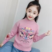 女童毛衣2018秋冬新款韩版儿童上衣打底针织衫小女孩洋气童装线衣M18Z0732
