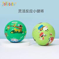 jollybaby祖利宝宝 宝宝练习拍拍球2-3-4岁幼儿园篮球户外3号儿童球类玩具