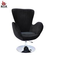 惠万家电脑椅时尚家用办公椅可升降旋转绒布椅子围椅美甲椅职员椅