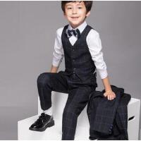 儿童西装男简约大气花童男童礼服套装马甲小童装外套秋装钢琴演出服韩版款式新颖