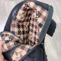 马丁靴女2019靴子女粗跟系带英伦风机车靴女厚底短靴马丁鞋冬