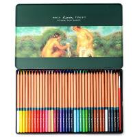 秘密花园 填色 MARCO马可雷诺阿水溶性彩色铅笔 3120 - 36色 水溶彩铅 铅笔套装铁盒可可画秘密花园和飞鸟等