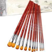 莫奈MONET1106魔幻尼龙水粉水彩画笔 油画笔 手绘笔 6支套装