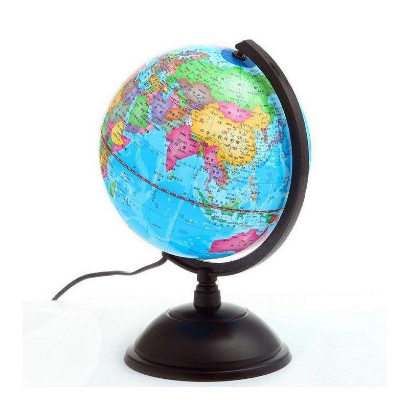 地球仪 志诚20CM全塑防水带灯光标准教学地球仪 全场满50元包邮,新疆西藏除外