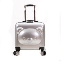 拉杆箱 男女士春季新款小熊登机箱万向轮儿童小熊卡通20寸熊拉杆皮箱学生密码行李箱时尚箱包