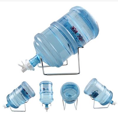 纯净桶装水压水器支架+水嘴+撬木棍 吸水器折叠支架 饮水机压水泵抽水器矿泉大桶水倒置吸抽 台式加高钢架