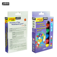 法国贝碧欧Pebeo儿童水粉颜料管状套装 水粉益智组合6色636701C