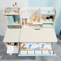 爱果乐学习桌儿童书桌小学生实木课桌椅家用写字桌可升降桌椅套装 1.2米