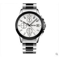 男士潮流商务 手表防水个性时尚石英手表六针钢带复古腕表