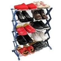 卡秀不锈钢五层组合鞋架 三色可选 灰色均码 WK904