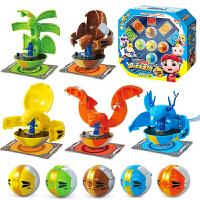 猪猪侠之竞球小英雄玩具 元灵锁决竞球超星锁五灵锁声光动漫玩具
